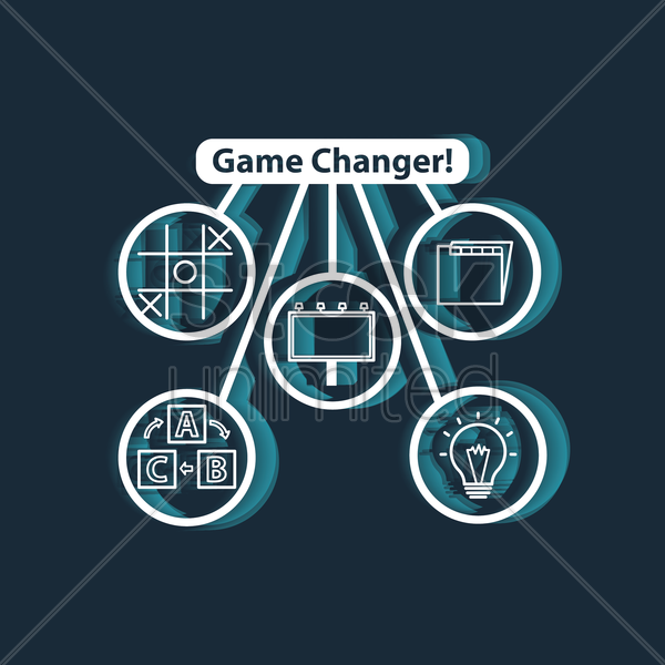 game changer concept vector graphic