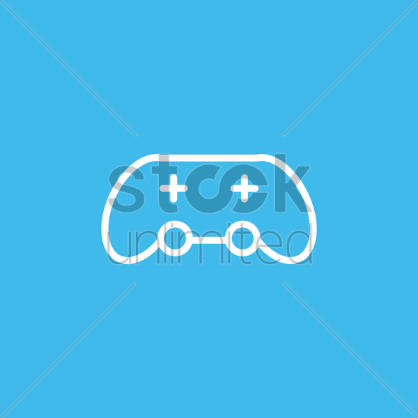 game controller icon vector graphic