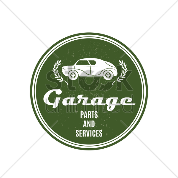 garage sign vector graphic