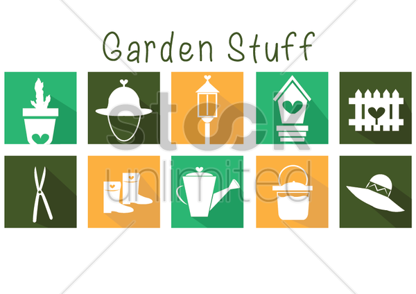 Free garden items vector graphic