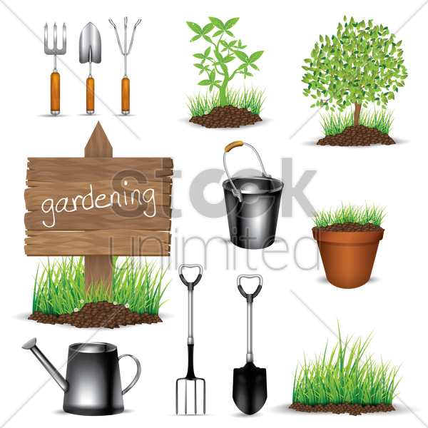 gardening collection vector graphic
