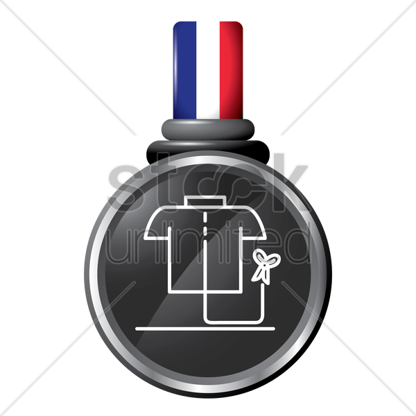garment in a medal vector graphic