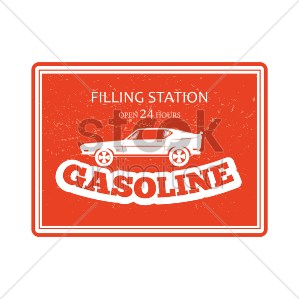 gasoline filling station sign vector graphic