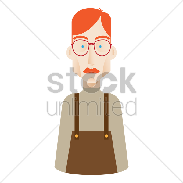 geek man vector graphic