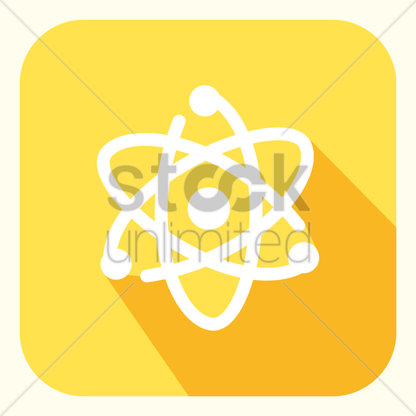 generic atomic planetary model vector graphic