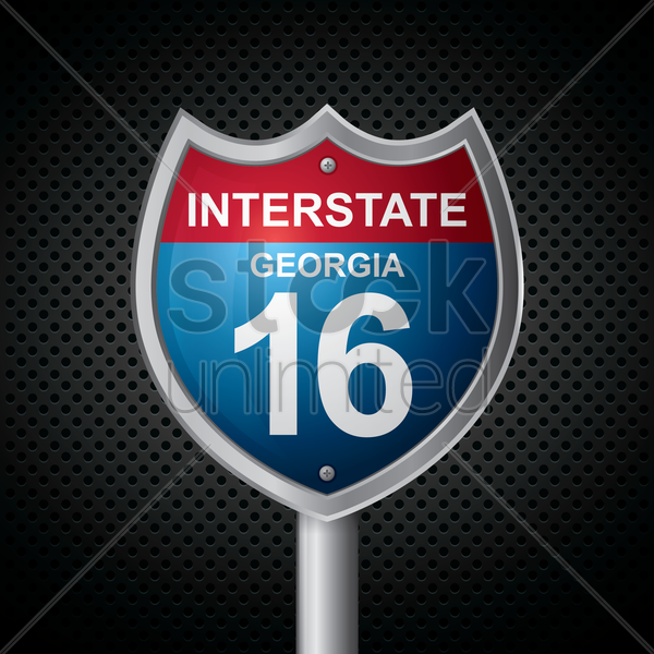 georgia 16 route sign vector graphic
