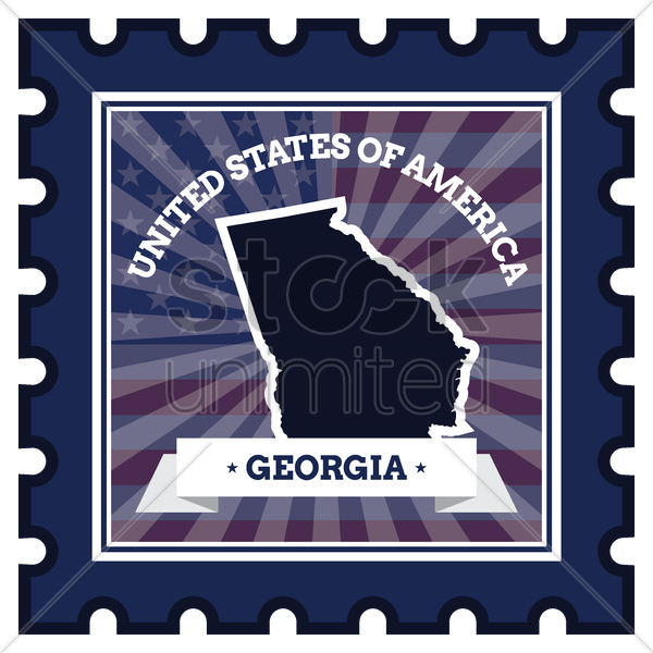 georgia postage stamp vector graphic