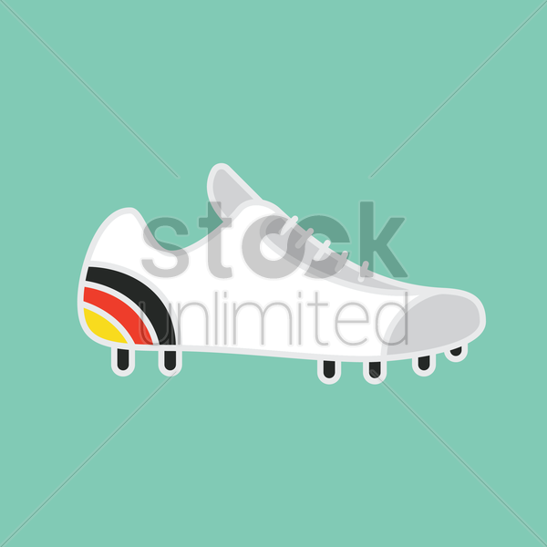 german flag on spikes shoe vector graphic