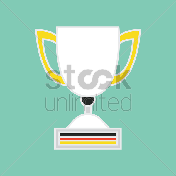 german flag on trophy vector graphic