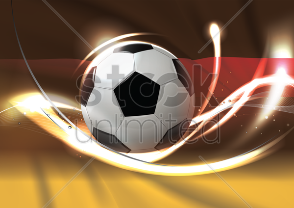 germany flag with soccer ball vector graphic