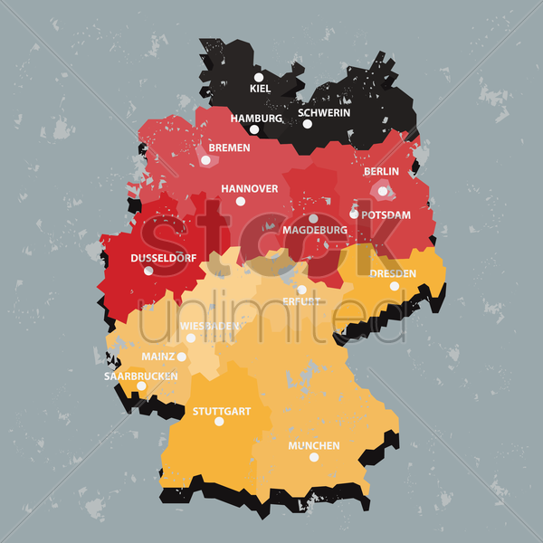 germany map vector graphic