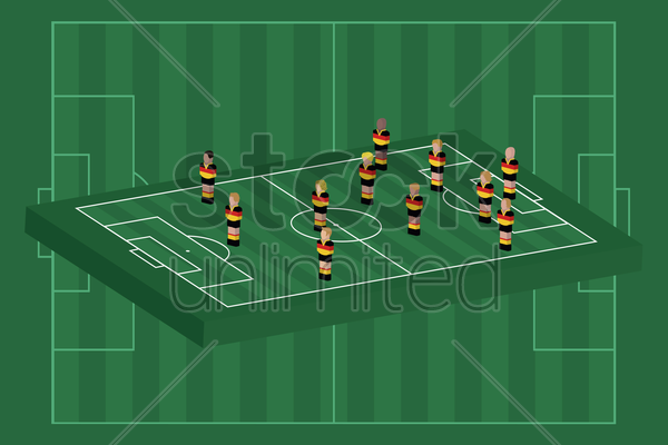 germany team formation vector graphic