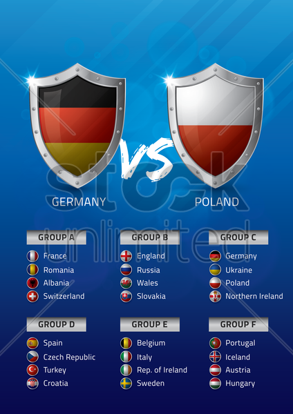 germany vs poland vector graphic
