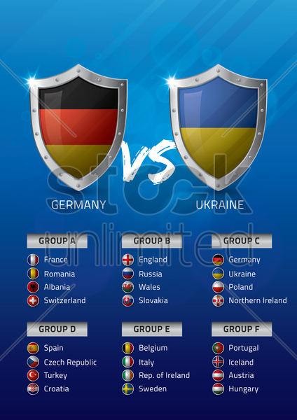 germany vs ukraine vector graphic