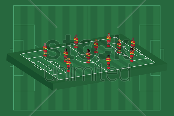 ghana team formation vector graphic