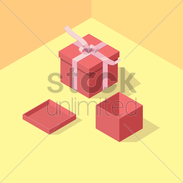 gift boxes vector graphic