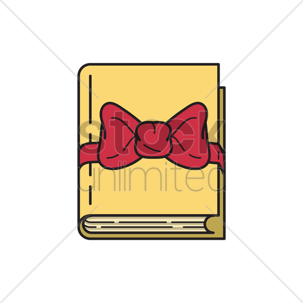 gift wrapped book vector graphic