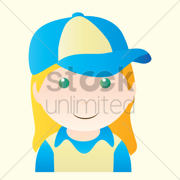 Free girl smiling vector graphic