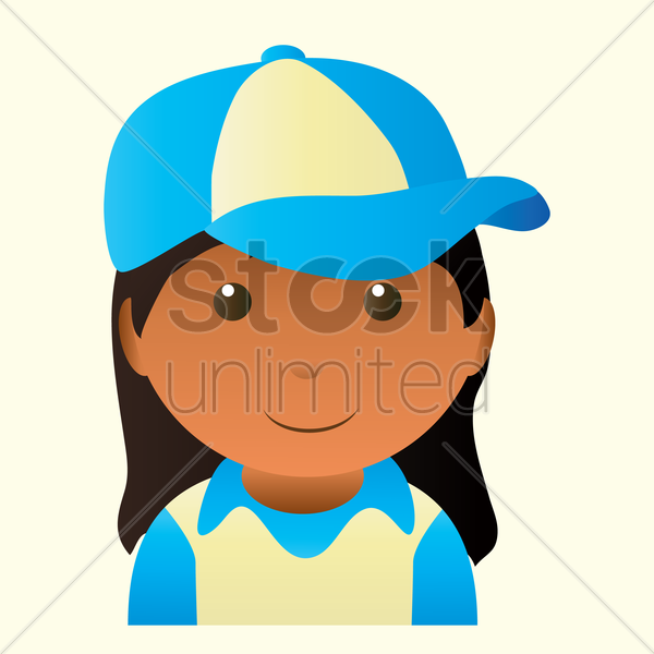 girl smiling vector graphic