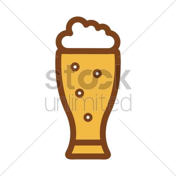 glass of beer vector graphic