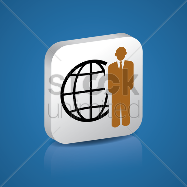 Free global business vector graphic