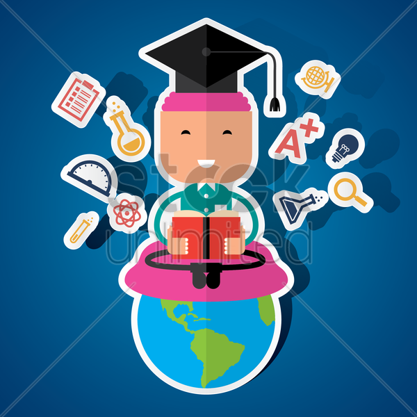 global education concept vector graphic