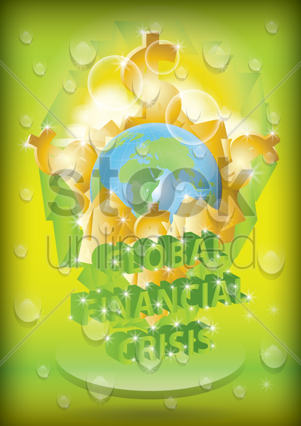 global financial crisis poster vector graphic