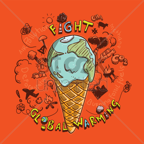global warming concept vector graphic