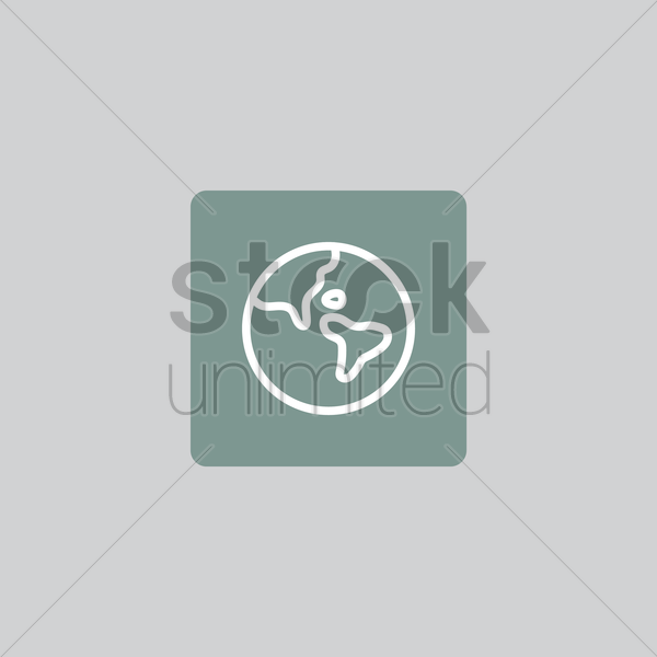globe icon vector graphic