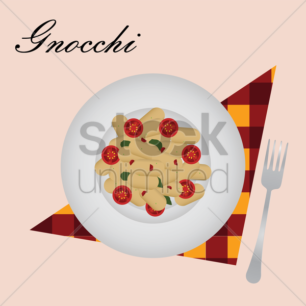 gnocchi vector graphic