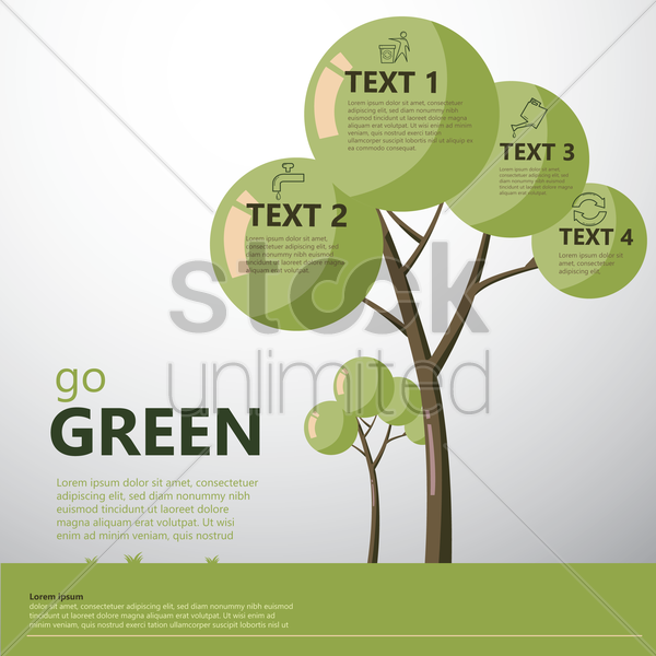 go green save world vector graphic