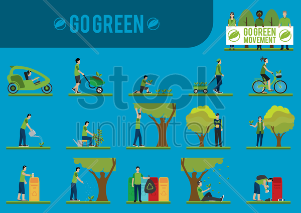 go green vector graphic