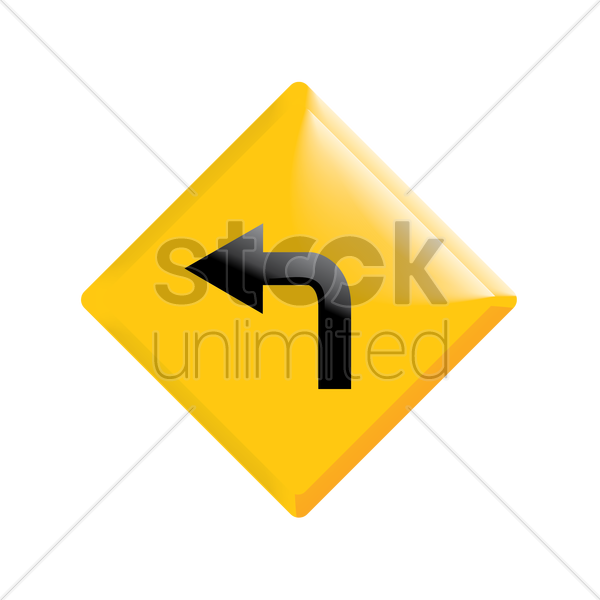 go left road sign vector graphic