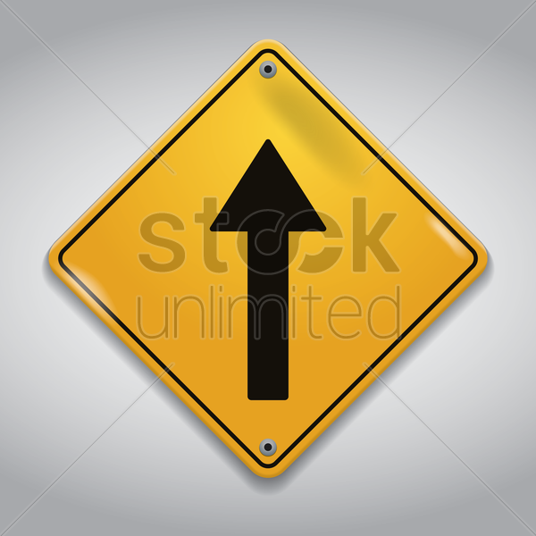 go straight road sign vector graphic