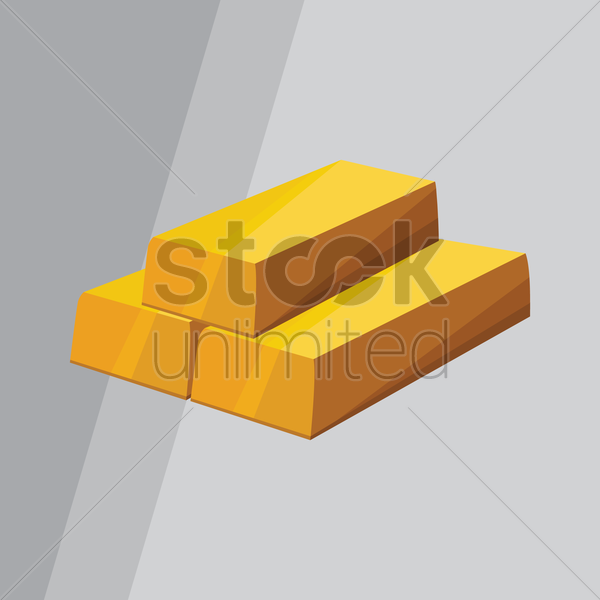 gold bars vector graphic