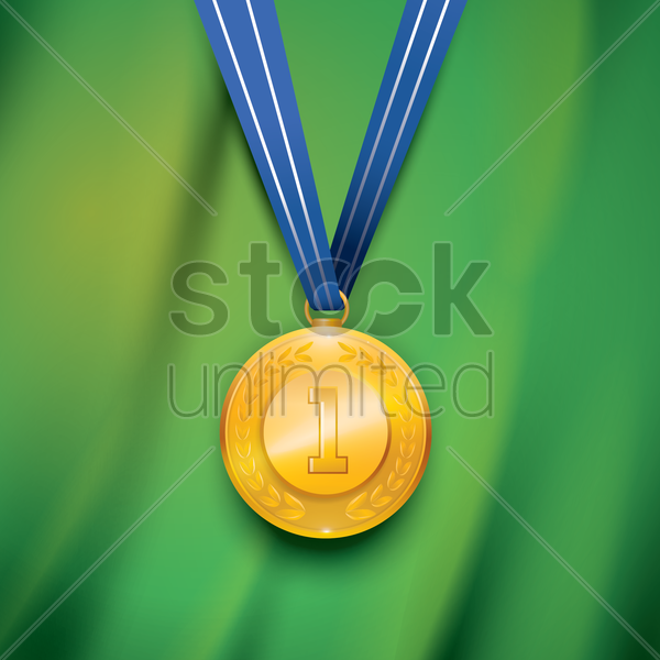 gold medal vector graphic