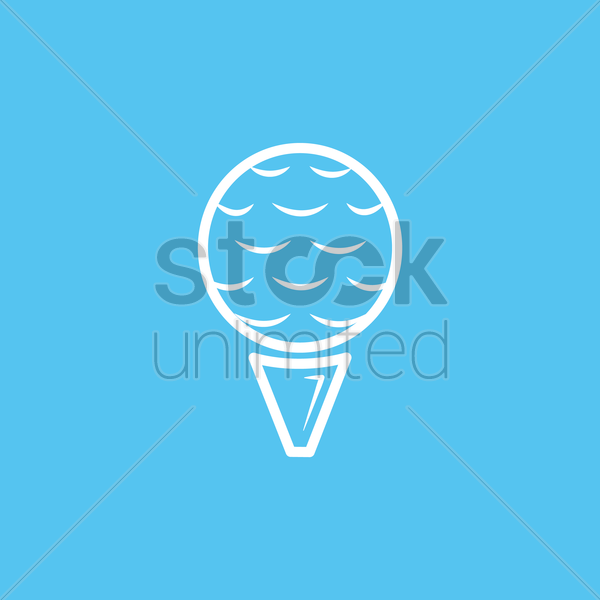 golf ball vector graphic