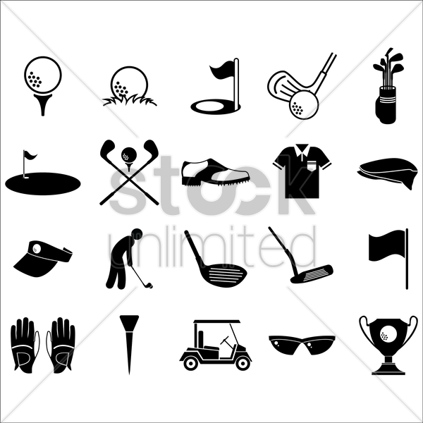 Free golf collection vector graphic