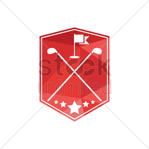 golf emblem vector graphic