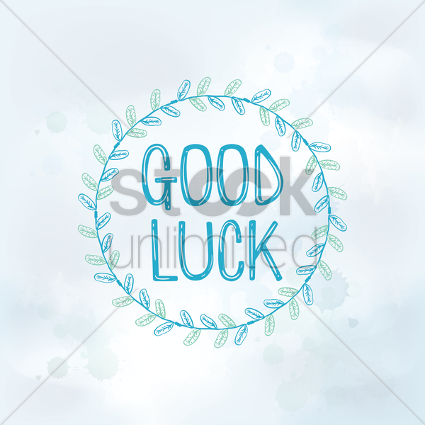 good luck vector graphic