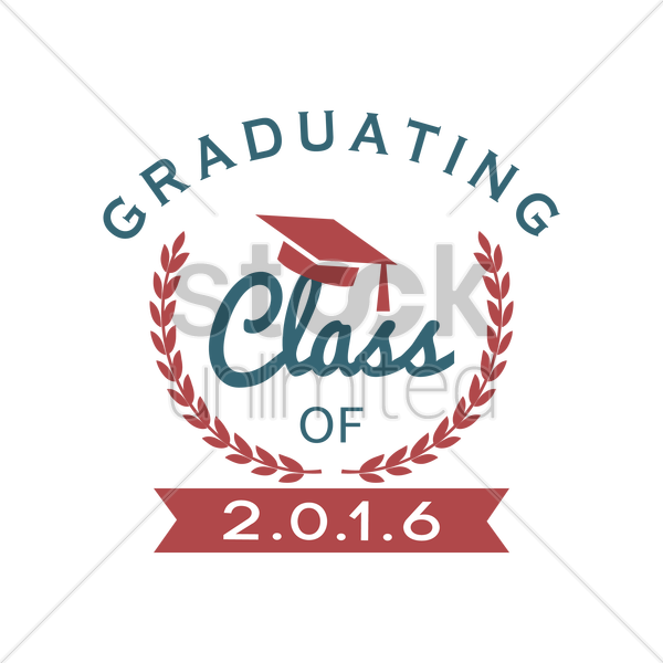 graduating class of 2016 vector graphic