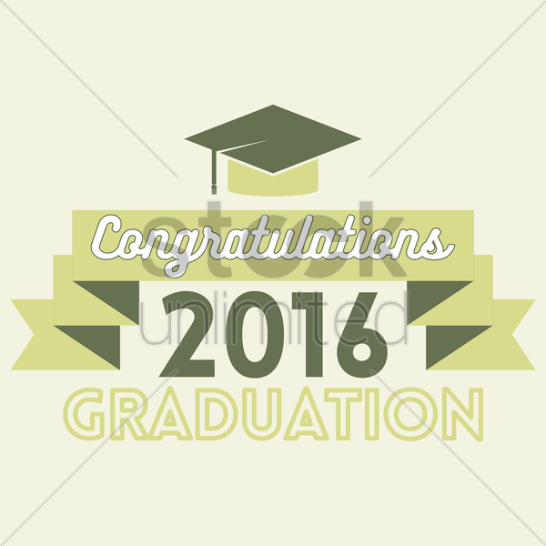 graduation 2016 design vector graphic