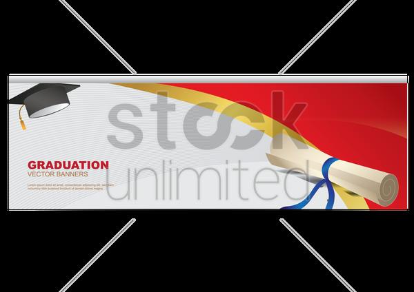 graduation banner vector image 1519355 stockunlimited. Black Bedroom Furniture Sets. Home Design Ideas