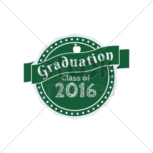 graduation class of 2016 vector graphic