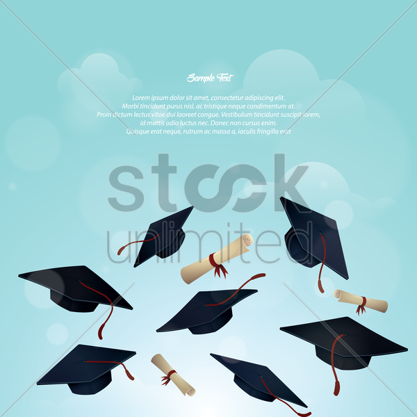 Graduation Hat And Certificate Hat And Certificate Poster