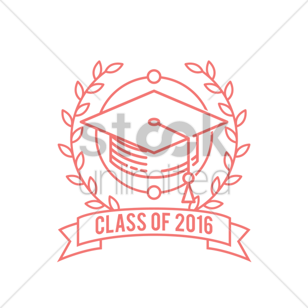 graduation label vector graphic