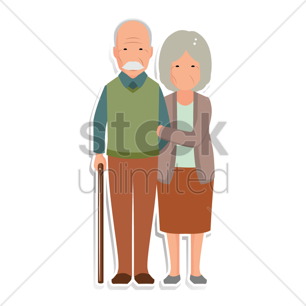 Free grandparent vector graphic