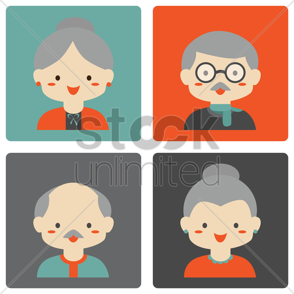 grandparents vector graphic