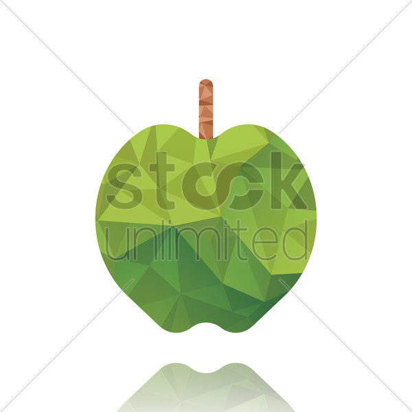 green apple vector graphic