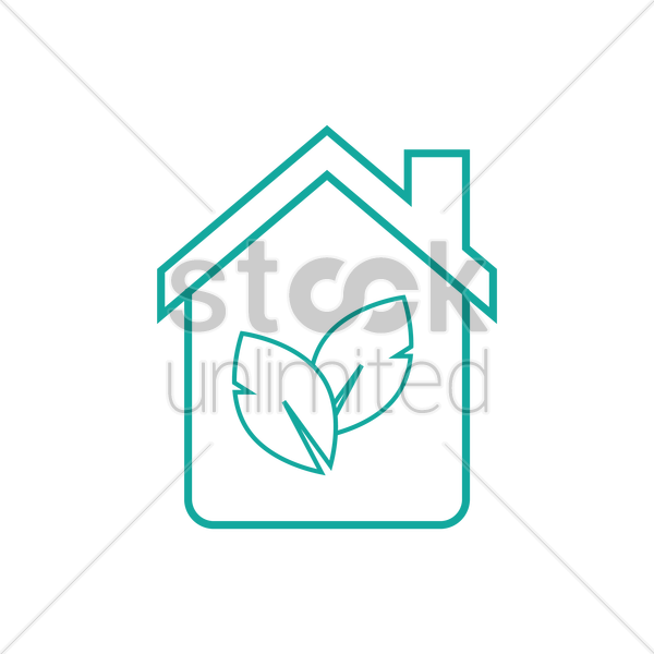 green home vector graphic